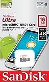 SanDisk Ultra MicroSDHC 16GB UHS-I Class 10 Memory Card (SDSQUNB-016G-GN3MN)