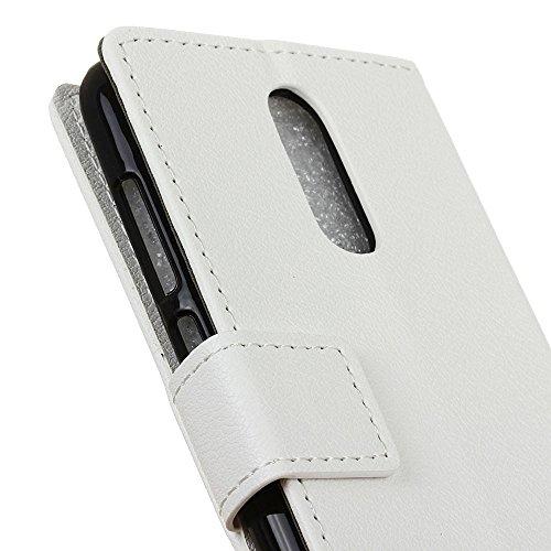 JIALUN-Telefon Fall MOTO M Case, Kas Textur Muster Leder Tasche Horizontal Flip Stand Brieftasche Case Cover mit Magnetic Clousre & Wallet Card Slots Für MOTO M ( Color : Red , Size : MOTO M ) White