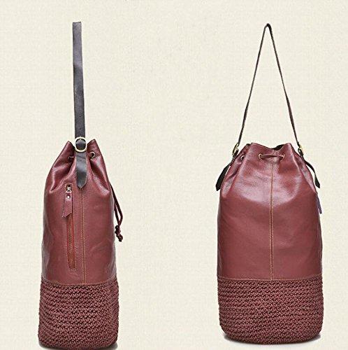 DJB/Erste Schicht Leder Damen Tasche Retro Wild Hand Tasche 2