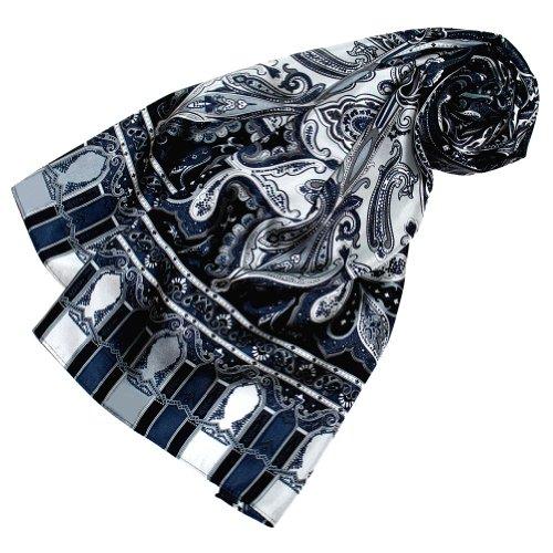 Wunderschöne Damen Mantel Jacke Seide (LORENZO CANA Luxus Seidenschal aufwändig bedruckt Paisley Muster Schal 100% Seide 50 x 165 cm harmonische Farben Damentuch Schaltuch)