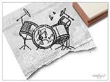 Stempel - Motivstempel Schlagzeug - Kinderstempel Bildstempel Geschenk für Kinder - Schule Kita Hobby Beruf, Karten Servietten Deko - zAcheR-fineT