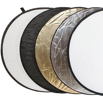 Delamax Réflecteur de lumière 5 en 1 Or, argent, noir, blanc, et translucide 107 cm Ø (Import Allemagne)