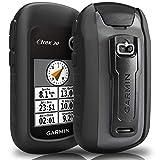 TUSITA Cas pour Garmin eTrex 10 20 30 20X 30X - Housse de Protection en Silicone Peau - Navigateur GPS Portable Accessoires (Noir)