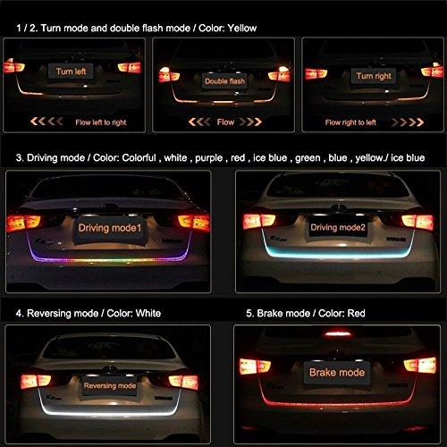 Autotrends flow led strip trunk dicky boot tail lights turn aloadofball Image collections