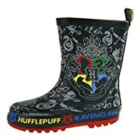 Lora Dora Boys Harry Potter Rubber Wellington Boots Hogwarts Crest UK 13