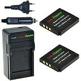 ChiliPower Fuji NP-50, NP50 Kit: 2x Batterie (950mAh) + Chargeur pour Fuji FinePix F50FD, F60FD, F70EXR, F75EXR, F80EXR, F85EXR, F100FD, F200EXR, F300EXR, F305EXR, F500EXR, F505EXR, F550EXR, F600EXR, F605EXR, F660EXR, F665EXR, F750EXR, F770EXR, F775EXR, F800EXR, F850EXR, F900EXR, REAL 3D W3, X10, X20, XF1, XP100, XP110, XP150, XP160, XP170, XP200, BC-50, BC-45W