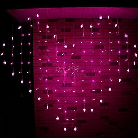 Illuminazione per esterni per case Natale Decorazioni Patio ha portato a forma di cuore lampada,cuore rosa