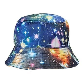ZLYC Galaxy Bucket Hat Fisherman Outdoor Cap for Men Women ...