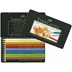 Sg Educación f110024Faber Polychromos latas en gama de tamaños lápiz (Pack de 24)
