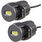 Sunpie Angel eyes easy_install E90 80w 6000K blanco estupendo LED de color LED luz de posición Bombilla LED Light Kit Auto lámpara de faro de luz de estacionamiento DC12-24V para BMW E90
