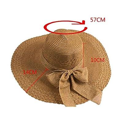 Futurekart Straw Fold Cap Sun Hat (Coffee, 57x14x10 cm)