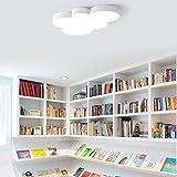 FDJYHFG Deng Modern Dimmable führte Schlafzimmer-Lampe, Moderne kreative Entwurfs-Deckenlampe, Bunte Deckenleuchte für Kinder 'S-Lampe, Ultra-dünne Innenbeleuchtung-Idee,Weiß