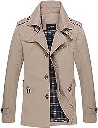 Zicac-Manteau/veste printemps et d'automne en coton mince veste décontractée manches longues pour hommes