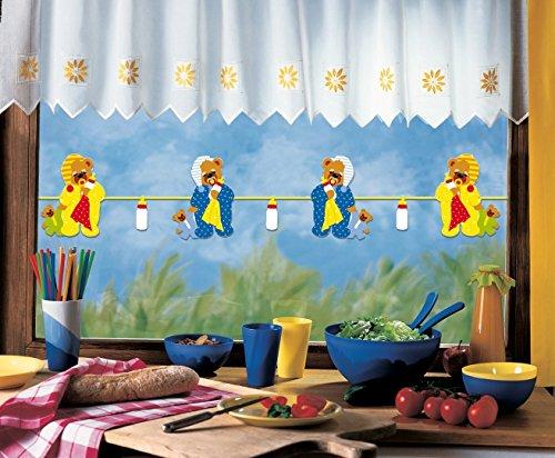Girlande SCHLAFTEDDY / bis 200 cm lang / beidseitig bedruckt / aus Papier, Pappe für Kinder
