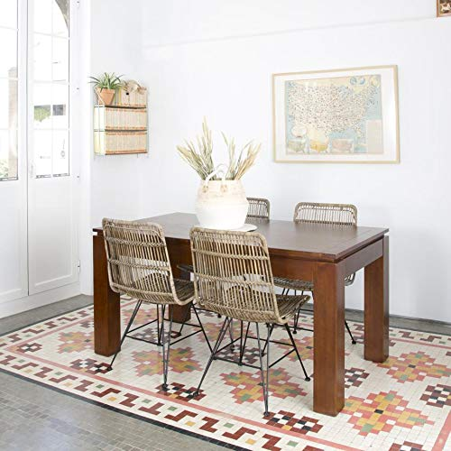 Lua Table Extensible 160/210 - Bois - 160x90x78 cm - Couleur Teck