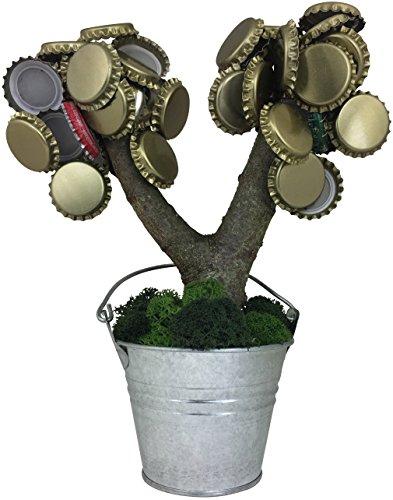 KRONLY Partyartikel Magnetbaum 20cm mit 2 extra starken Magneten hält über 70 Kronenkorken lustiges Bierliebhaber Geschenk - Brauen Topf