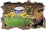 Ultras DortmundStadion, 3D Wandsticker Format: 92x62cm, Wanddekoration