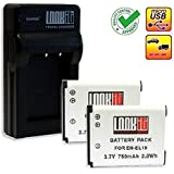 LOOkit Set: 4in1 Chargeur + 2x LOOKit Batterie pour Nikon EN-EL19 - LI-ION -- pour Nikon COOLPIX A100 / Nikon S7000 / Nikon S33 / Nikon S3700 / Nikon S2900 / Nikon COOLPIX S6800 / COOLPIX S5300 / COOLPIX S3600 / COOLPIX S2800