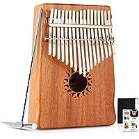 Donner Klavier mit 17 Tasten Kalimba Daumen Klavier-Finger, Mbira massiver Mahagoni-Korpus DKL-17