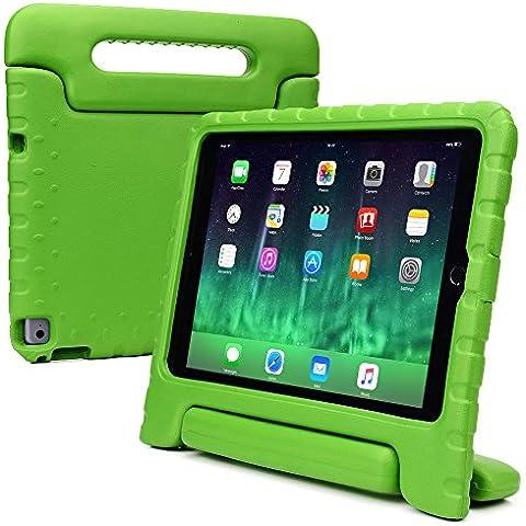 Funda Infantil Cooper Cases (TM) Dynamo para Apple iPad Air 2 en Verde + Protector de Pantalla gratuito (Ligera, absorción de impactos, Espuma EVA segura para los niños, Asa incorporada, y soporte para