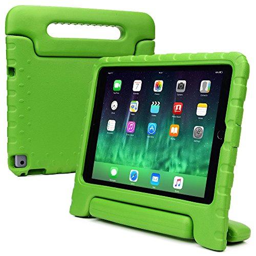 Cooper Cases(TM) Dynamo iPad Air 2 Hülle für Kinder in Grün + Frei Displayschutzfolie (Leicht, ungiftiger EVA-Schaum, haltbares Design, Extraschutz, Freier Stand)
