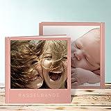 Fotobuch zum Selbstgestalten groß, Fotobuch Solo 28 Seiten, 14 Blatt, Hardcover 215x215 mm personalisierbar, Rot