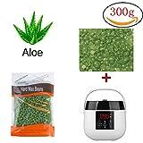 Sinbide LCD Wachswärmer Warmwachsgerät Heisswachs Enthaarungsgerät Wachswärmer Haarentfernung Wachsgerät Wachs Wärmer Haarentfernung Wachs Geräte Wachserhitzer Set Enthaarungswachs Gerät warm Wax Gerät Heisswachsgerät mit 300g Wachsbohne (Wachswärmer+300g Aloe Wachsbohnen)