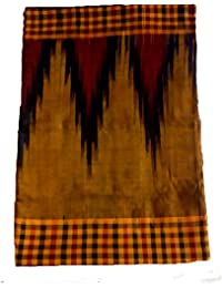 Sambalpuri Handloom Ikat cotton saree(Golden with black colour Anchal)
