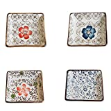 4 PCS farbige Glasur Platten exquisite Gerichte Geschirr Relish Tray-03