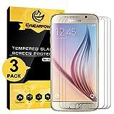 NEARPOW [3 Pièces] Samsung Galaxy S6 Protection D'écran En Verre Trempé (0,26mm HD Protecteur Ecran