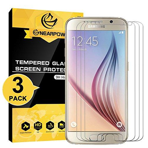 [3 Stück] Samsung Galaxy S6 Panzerglas Displayschutzfolie, Nearpow Schutzfolie 9H Härte, Anti-Kratzen, Anti-Öl, Anti-Bläschen, Anti-Fingerabdruck