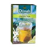 Dilmah Grüner Tee Grüner Tee mit Zitronengras / Zitronen Box strick und Etikett Beuteln 30 g (12er Pack, je 20 Beuteln)