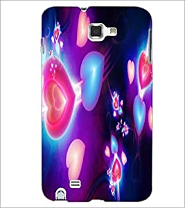 PrintDhaba Hearts D-2375 Back Case Cover for SAMSUNG GALAXY NOTE 1 (Multi-Coloured)