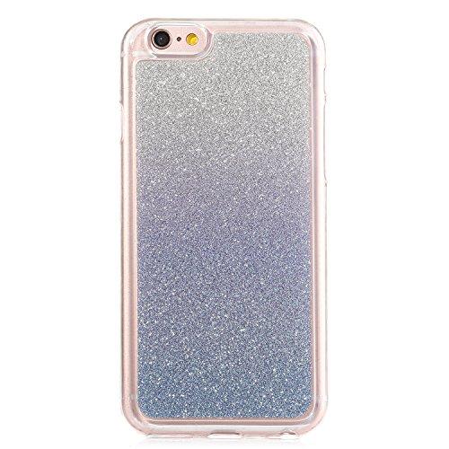 MOONCASE iPhone 6S Plus Hülle, Gel TPU Handyhülle Silikon Stoßdämpfende Tasche Case Schutzhülle für Apple iPhone 6 / 6S Plus (5.5 Zoll) Gradient Dark Blau