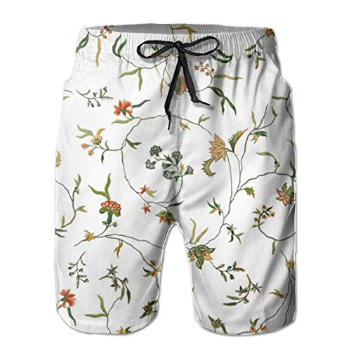 Cecile Bestickte Chintz_207 Herren Boardshorts Badehose Surf Beach Holiday Party Badeshorts Strandhose M -