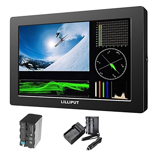 Lilliput Q7 Monitor LCD Full HD de 7 Pulgadas 2K con 3G-SDI y HDMI Cross Conversión + 7 Pulgadas Magic Arm Clamp Crab Clip