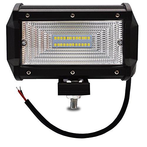 Safego 5 Inch 72W LED Scheinwerfer Arbeitslicht Auto Arbeitsscheinwerfer bar Offroad Off-road 6000K IP67 Flutlicht ATV SUV 12V/24V Schwarz Aluminium Druckguss 6000K IP67 - 10x12 Utility Trailer