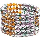 Schmuck-Art Damen-Armband Aseri purple green sm topaz AB 34744