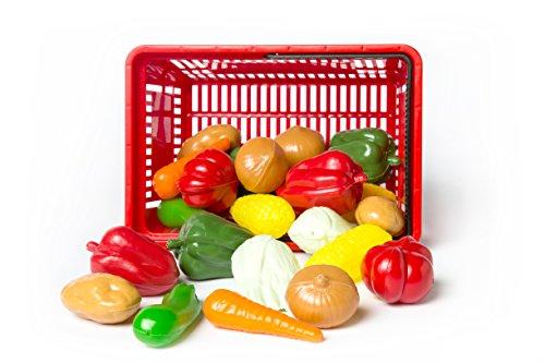 L.A.P. Learn And Play Cestino giocattolo Verdura, Multicolore