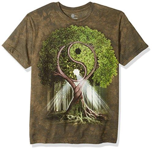 Yin Yang Grün T-shirt (The Mountain Herren Tri-Blend Yin Yang Tree T-Shirt, grün, Mittel)