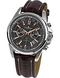 Jacques Lemans Herren-Armbanduhr Liverpool Analog Quarz Leder 1-1117.1WN