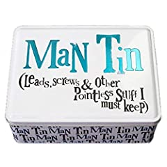 Idea Regalo - Really Good - Scatola in latta per uomo Gifts for Men, per riporre cavetti, viti e altri oggetti assolutamente inutili da conservare