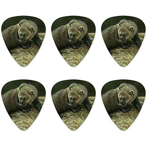 Fisher Cat Neuheit Guitar Picks Medium Gauge - Set von 6