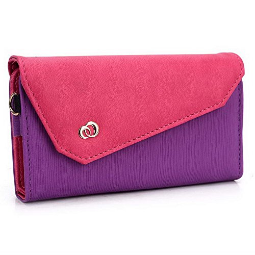 Kroo Pochette Portefeuille Link Series Mobile pour protection d'écran Ctrl v6l/haute qualité pour Gionee Elife S5.5 Multicolore - Purple and Magenta Multicolore - Purple and Magenta