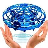 Kriogor UFO Mini Drohne, UFO Flying Ball Fliegendes Spielzeug Helikopter mit 360° Rotierenden und LED, für 5-8 Jahren Kinder