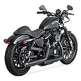 Terminali Vance & Hines Twin Slash 3' Neri Per Harley Davidson Sportster Per Harley Davidson Sportster 2014 al 2018