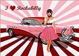 Posterlounge Acrylglasbild 70 x 50 cm: I Love Rockabilly von Monika Jüngling - Wandbild, Acryl Glasbild, Druck auf Acryl Glas Bild