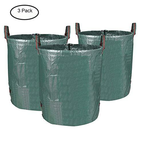*MVPOWER 3er Gartensack 272L Gartenabfallsack aus robuste PP – selbststehend und faltbar – Abfallsäcke für Gartenabfälle Laub Rasen Pflanz Grünschnitt (3xSäcke)*