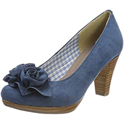 Hirschkogel, Zapatos de tacón con Punta Cerrada De Mezclilla