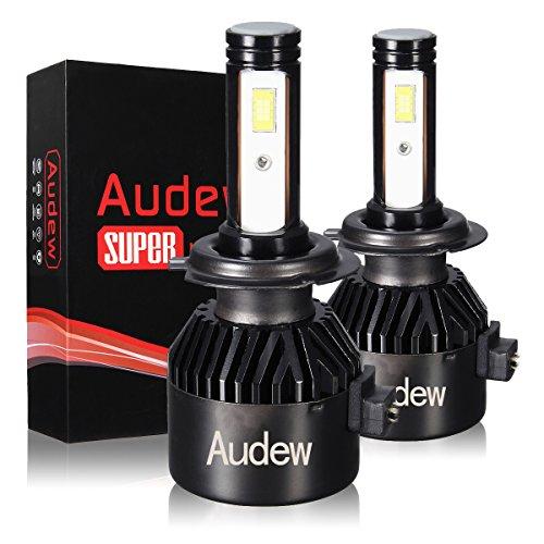 Audew H7 LED 8400LM Kit Lampada Sostituzione per Alogena Lampade e Xenon Luci, Fari Abbaglianti o Anabbaglianti per Auto IP68 Impermeabile, 12V-24V 6000K Bianco